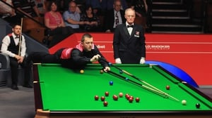 It was pure guesswork at times for Mark Allen as he beat Michael Holt