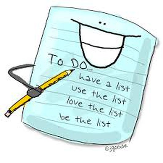 To Do Lists / Lists & their importance