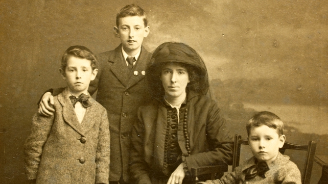 An image of the Clarke family contained in the digitised collection