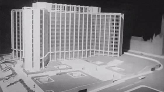 Model of New Corporation Block for Wood Quay