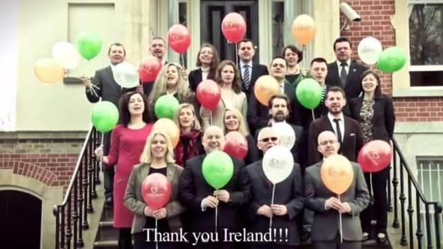The Polish Embassy in Dublin has released a video to say thank you to Ireland