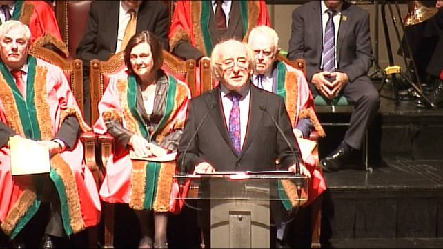 President Michael D Higgins said he was honoured to become a Freeman of Cork