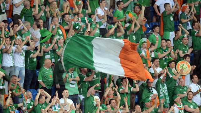 Irish football fans have an excellent reputation across Europe