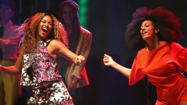 Beyonce joined her sister Solange Knowles on stage at Coachella