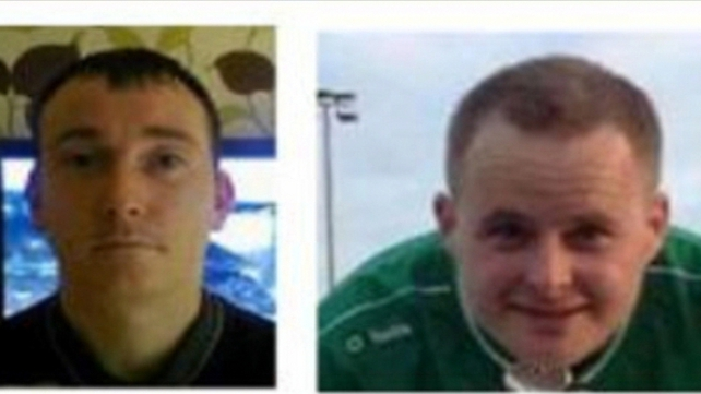(L-R) Anthony Keegan and Eoin O'Connor have been missing since Tuesday night