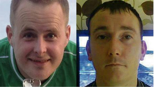 Eoin O'Connor and Anthony Keegan have been missing since Tuesday