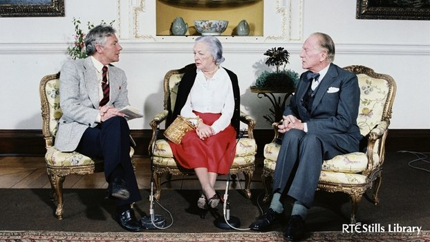 Sir Alfred and Lady Beit with Gay Byrne (1983)