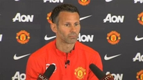 Ryan Giggs holds his first press conference as Manchester United interim-manager