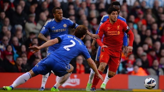 Liverpool v Chelsea, Anfield, Sunday at 2.05pm