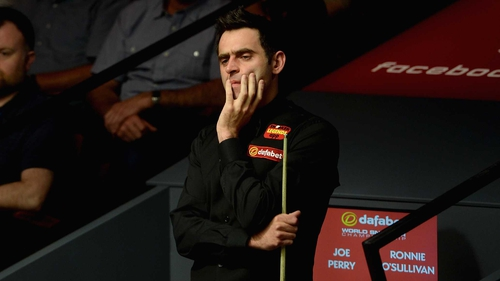 Ronnie O'Sullivan looking concerned