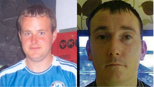Eoin O'Connor and Anthony Keegan have been missing since Tuesday night