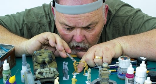 One man show about model-making