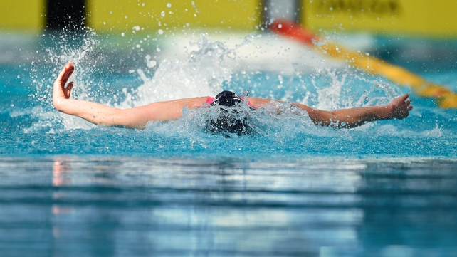 Melanie Houghton really put her head down to break the Irish women's 50m fly record at the NAC