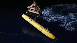 The Phoenix International Autonomous Underwater Vehicle (AUV) Artemis is involved in the search