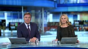 Six One presenters Bryan Dobson and Sharon Ní Bheoláin