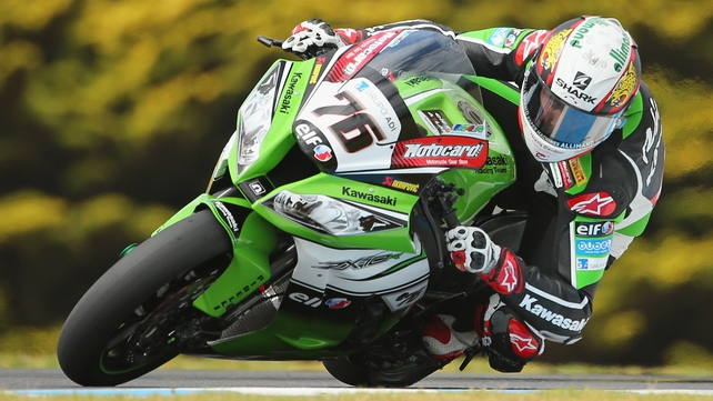 Loris Baz has taken pole for the Assen World Superbikes event