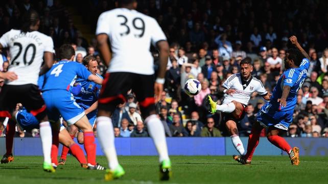 Ashkan Dejagah of Fulham scores their first goal
