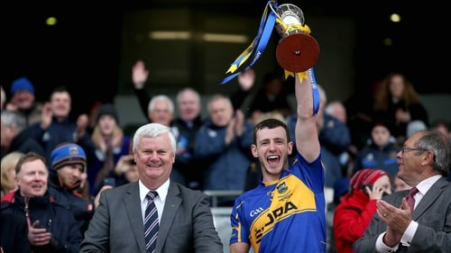 Tipperary's Paddy Codd lifts the Division 4 trophy
