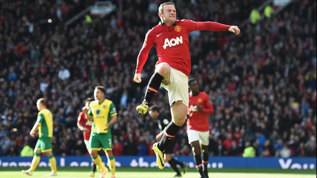 Wayne Rooney scored in each half for United