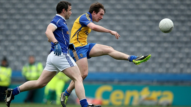 David Keenan of Roscommon score's his side's only goal of the game
