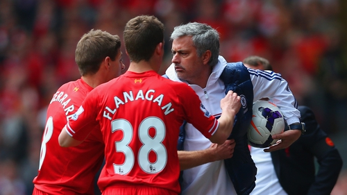 Jose Mourinho rallied against accusations of Chelsea time wasting at Anfield