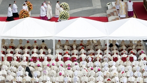 Cardinals and bishops from around the world celebrate the canonisation of Pope John Paul II and Pope John XXIII