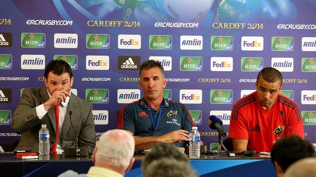Rob Penney addresses the press after his side's defeat to Toulon