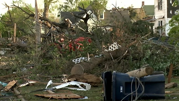 The tornadoes caused widespread damage across Arkansas and Oklahoma