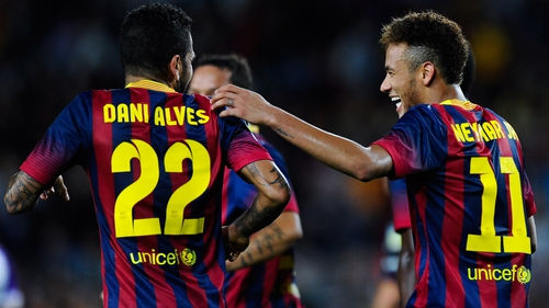 Neymar has come out to back his team-mate Dani Alves who received racist abuse from Villareal fans