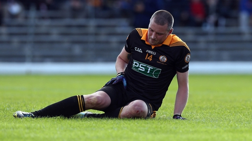 Kieran Donaghy had been making his return from an injury suffered last year