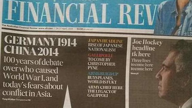 The Australian Financial Review is part of the Fairfax Media group