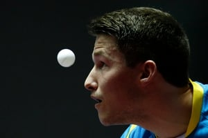 Kristian Karlsson of Sweden in action at the Table Tennis Team World Championships in Tokyo, Japan (Pic: EPA)
