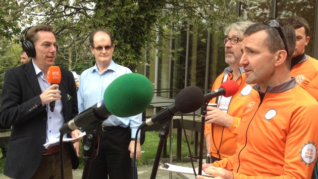 Ryan Tubridy interviewed Colm Hayes and Jim Breen (R)