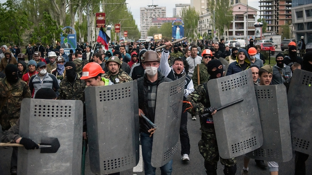 Several Ukrainian cities, including Donetsk, have seen violence on the street