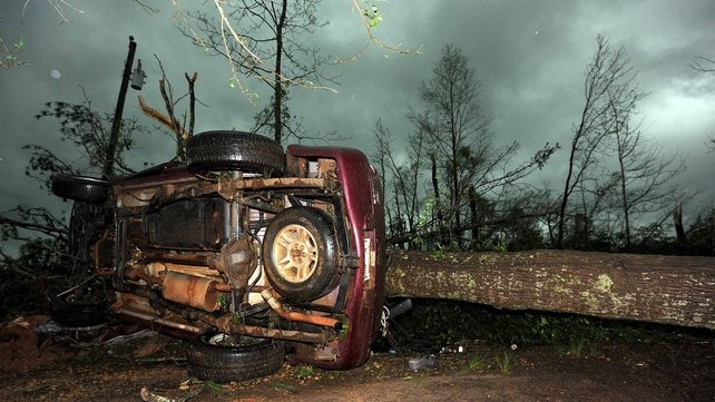 The tornadoes left a wide trail of destruction across several states (Pic: EPA)