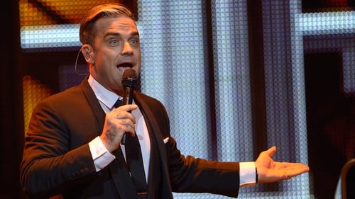 Robbie Williams suffered a stage fall at a gig in Newcastle