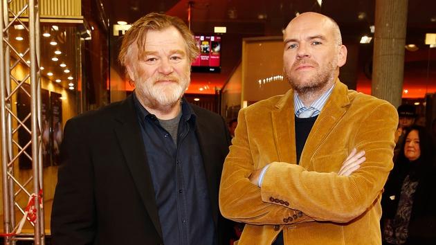 John Michael McDonagh with his Calvary star Brendan Gleeson