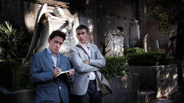 Rob Brydon and Steve Coogan in Rome's Cimitero acattolico