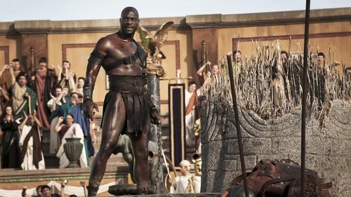 Adewale Akinnuoye-Agbaje in full gladiator mode