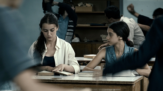The girls study at a decrepit, run-down school in Tbilsi