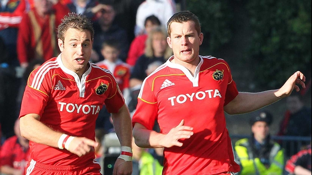 Johne Murphy and Denis Hurley have both proved versatile backs for Munster
