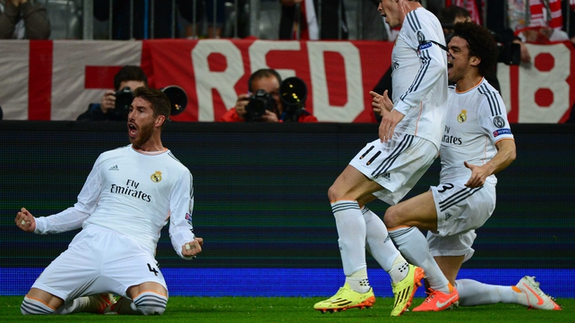 Sergio Ramos hit a first-half brace in Munich