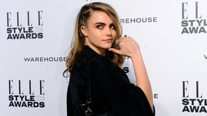Cara Delevigne visited the Suicide Squad set