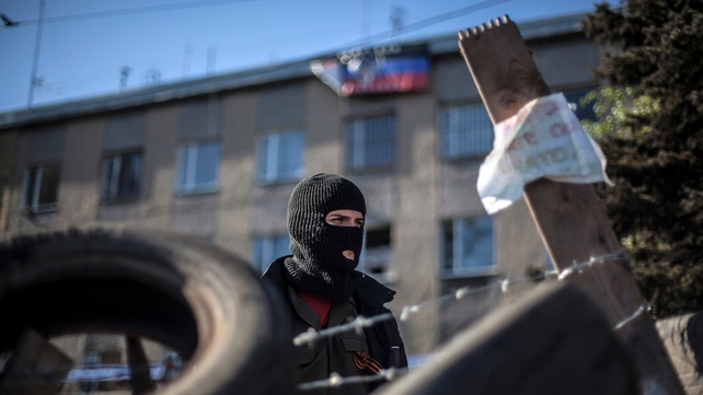 Pro-Russian separatists blockaded Horlivka's police headquarters earlier this month