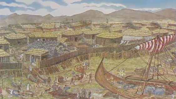 Wood Quay Illustrated in the year 984
