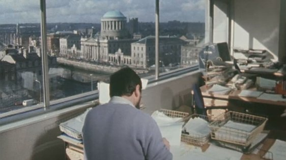 Civic Office Workers in the new building at Wood Quay