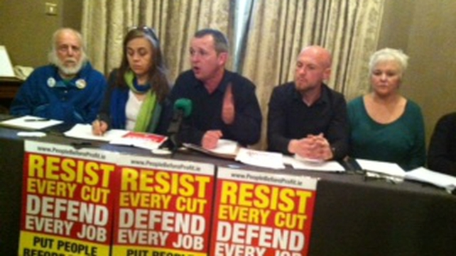 Richard Boyd Barrett (centre) said the elections will see the largest number of left-wing candidates in the history of the State