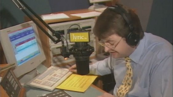 Michael Comyn the first voice on Lyric FM.