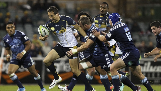 Andrew Smith carries for the Brumbies against the Bulls
