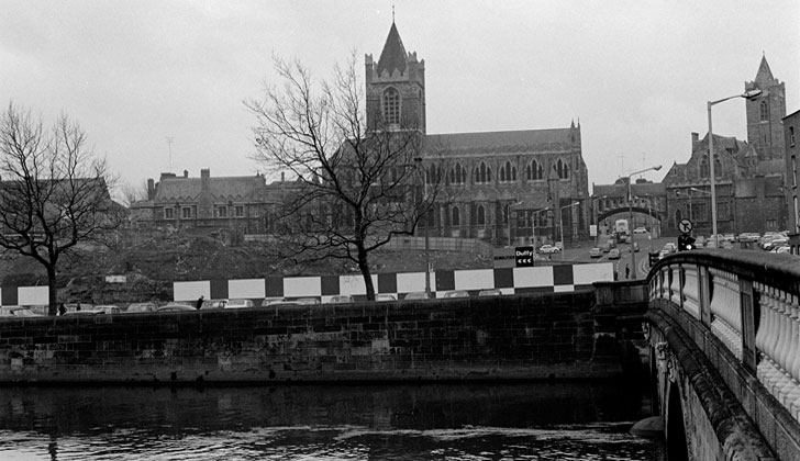 Wood Quay and Christ Church Cathedral (1974)
